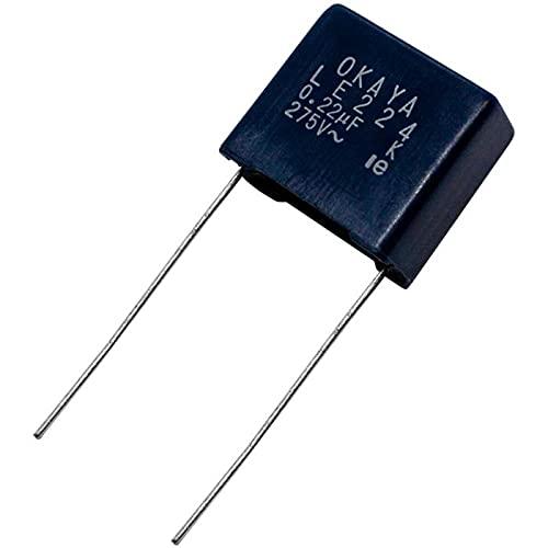 10x Folien Kondensator Radial 0,22µF 275V AC Okaya LE224 220nF