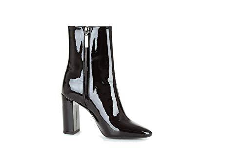 Saint Laurent Luxury Fashion Damen 5274180NPVV1000 Schwarz Lackleder Stiefeletten | Jahreszeit Outlet
