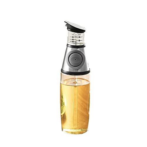 Hanpiyigyh Aceitera, Dispensador de aceite de cocina Presione y mida la botella del dispensador de aceite, cruet con verters, abertura ancha para una fácil recambio y limpieza, botella de aceite de vi