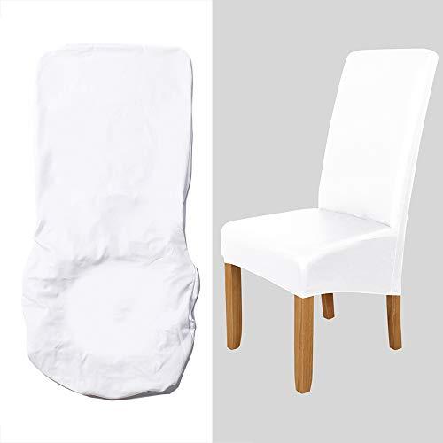 Staright Slipcover da cadeira de jantar, Capa de cadeira removível de estiramento alto Lavável Couro PU Capa de protetor de assento da cadeira impermeável para festa em casa Cerimônia de casamento do
