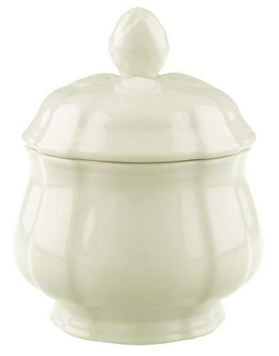 Villeroy & Boch Manoir Zuckerdose, 200 ml, Höhe: 6,5 cm, Premium Porzellan, Weiß
