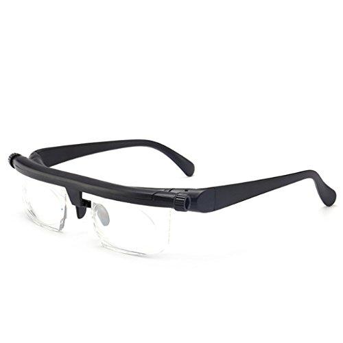 lixiaoxuty Lesebrille Einstellbare Stärke Linse Lesebrille Kurzsichtigkeit Brillen Variable Fokus Vision Pflege Herren Damen Lesebrillen Adjustable Focus -6.00 to +3.00