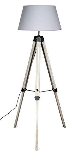 levandeo Lampe Dreibein 145cm Hoch Stehlampe Leuchte Retro Shabby Chic Vintage Landhausstil Höhenverstellbar