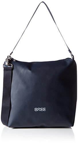 BREE Pnch 702, blue, cross shoulder M 83251702 Damen Umhängetaschen 30x12x32 cm (B x H x T), Blau (blue 251)