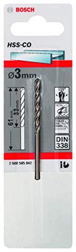 BOSCH 2608585842 - Broca para metal HSS-Co DIN338: 3,0 x33 x61