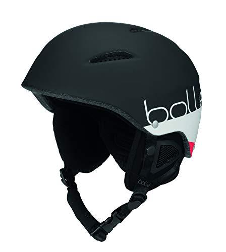 bollé B-Style Soft Casco de Esquí, Unisex Adulto, Negro (Black/White Mate), 54-58 cm