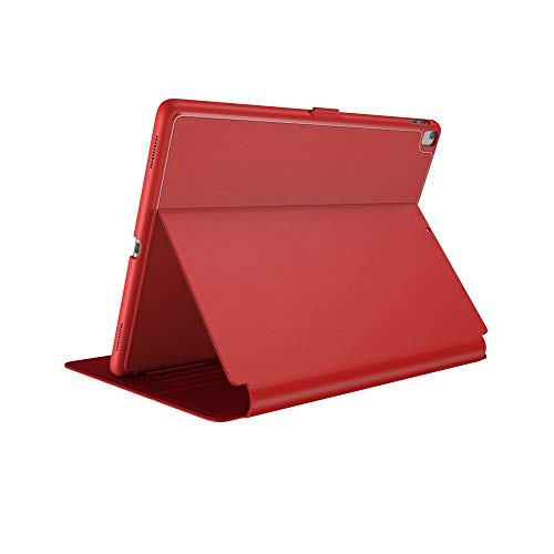 Speck Products Compatible Case for Apple iPad 9.7' (2017/2018, Also fits 9.7' iPad Pro/Air 2/Air), Balance FOLIO Case/Stand, Dark Poppy Red/Velvet Red