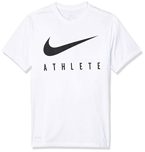 Nike M Nk Dry Tee Db Athlete T-Shirt, Uomo, White/Black, XL