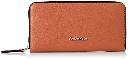 Calvin Klein Ck Must Ziparound Wallet Lg - Portafogli Donna, Marrone (Cuoio), 1x1x1 cm (W x H L)