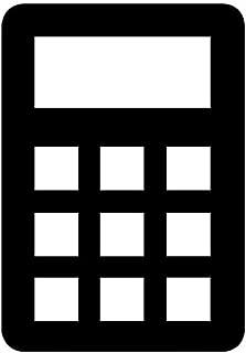 Calculator Decal Sticker (Black, Mirrored), Decal Sticker Vinyl Car Home Truck Window Laptop
