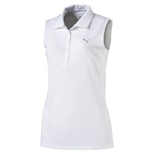 PUMA Pounce Sleeveless Polo Femme, Bright White, XS