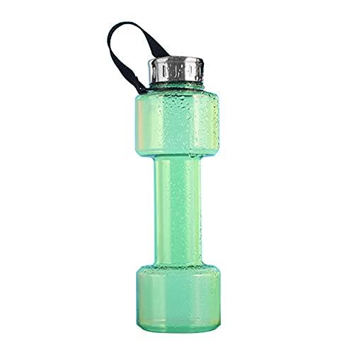 Wenxu Botella de agua con forma de mancuerna 750 ml de capacidad Taza ecológica Botella para beber Taza deportiva Taza de agua Taza espacial insípida para gimnasio Senderismo