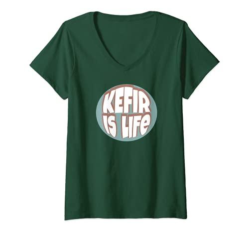 Mujer El kéfir es la vida Camiseta Cuello V