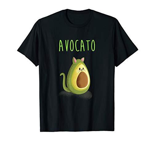 AVOCATO Katzen Avocado Liebhaberinnen Spruch Tier Frucht T-Shirt