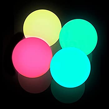 Sticky Ceiling Balls Sticky Balls for Ceiling Stress Relief Glow Toys Glow in The Dark Sticky Wall Balls Stuck on The Roof Tear-Resistant for Children and Adults  1set Red&Yellow&Blue&Green