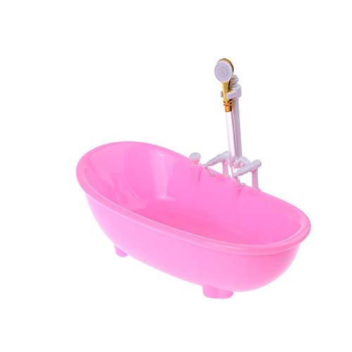 JIACUO 1/6 Puppenhaus Miniaturen Elektrische Badewanne Möbel Bad-Accessoires Kinder Täuschen Spielzeug