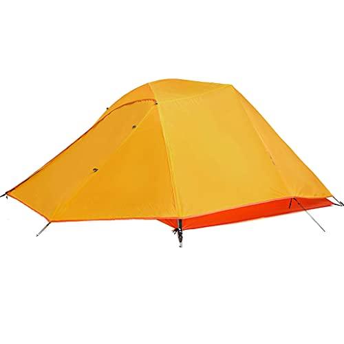 SHIJIANX Tienda de Campaña para 3-4 Personas,Tienda de Camping con Tapetes,Tela Escocesa de Nailon Recubierta de Silicona,fácil Instalación,para Senderismo,Viajes,Escalada,215x180x110cm