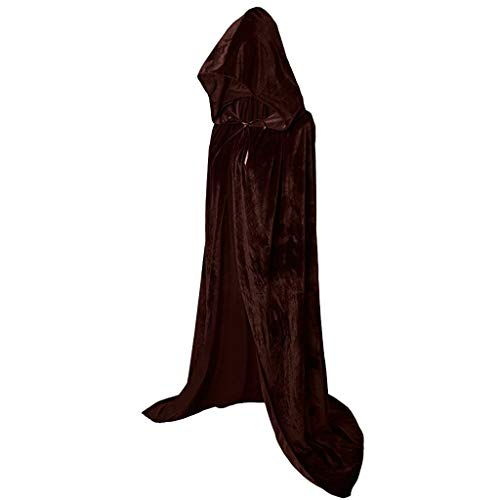 SANFASHION 2019 Halloween Nouveau Style Cloak Long Mascarade Cape Long Party Blouson Carnaval Mode Uni Cape Capuche Grande