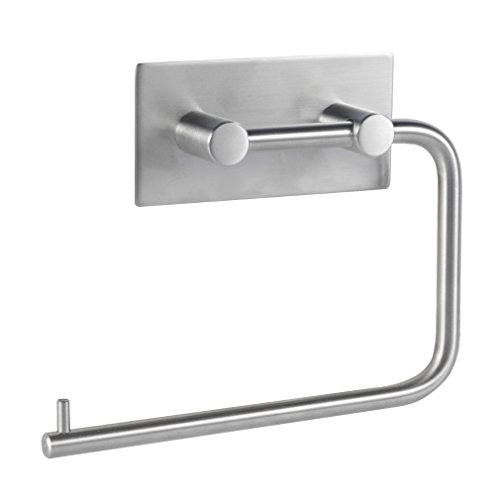 YKS Toilettenpapierhalter ohne Bohren, Patentierter Kleber + Selbstklebender 3M-Kleber, Aluminium, Matte Finish