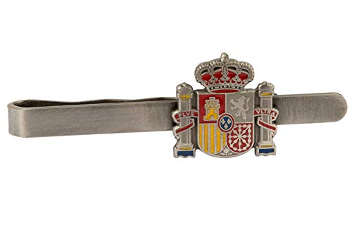 Gemelolandia Pasador de Corbata Escudo Estado Español Acero 55mm   Pisa Corbatas Para usar en Bodas y en Eventos formales   Da un toque Elegante   Complementos de Moda Para Hombres