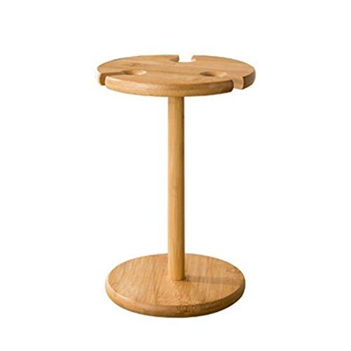 YWYW Estante para Vino, Estante para Secado de Copas de Vino Estante de Almacenamiento de bambú Soporte para exhibición de Botellas Oficina Hogar para Amantes del Vino o Invitados Fiesta o banque