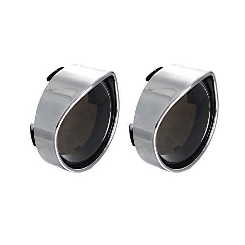 NTHREEAUTO Smoked Bullet Turn Signal Light Lens Cover with Chrome Visors Compatible with Harley Dyna Sportster Street Electra Glide Road King Fatboy
