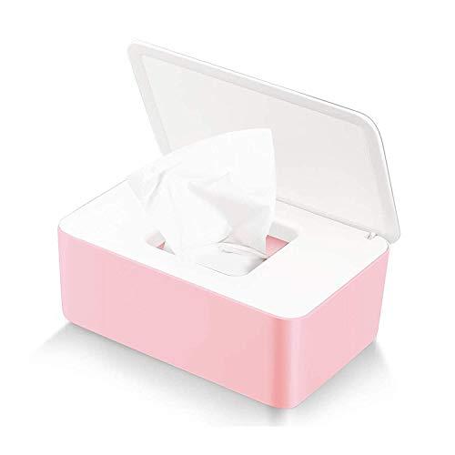 Dispensador de Toallitas Húmedas,Dispensador de Toallitas de Pañal Caja de Calentador de Toallitas para Bebés Caja de Esterilización de Toallas de Papel,Caja de Toallitas para Bebés (Rosa)