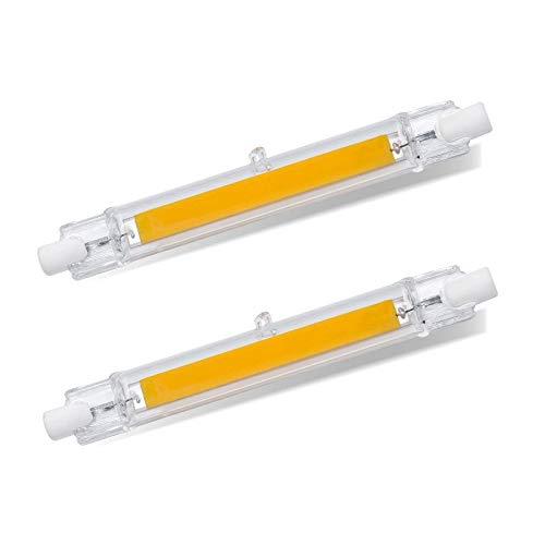 R7S LED 118mm 12W Stablampe, Kaltweiß 6000K, Ersetzt R7S J118 100W-120W Halogenstab, 1200LM, 360-Grad-Licht, Nicht Dimmbar, R7S 118mm COB LED Linear für Baustrahler/Deckenlampe, 2er-Set