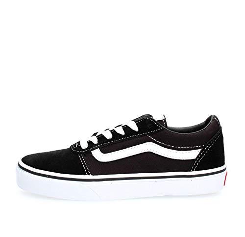 Vans Unisex Kinder Ward Suede/Canvas Sneaker, Schwarz ((Suede/Canvas) Black/White Iju), 36.5 EU