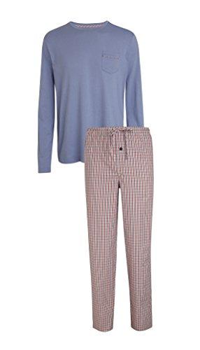 Jockey® Langer Schlafanzug Mix, Blau & Rot, Größe XL