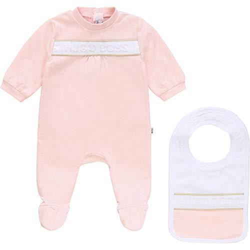 Conjunto de pijama y babero BOSS BEBE pañal Baby PINK 18 meses