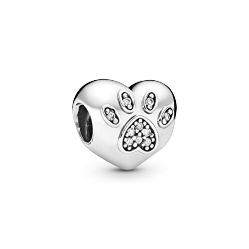PANDORA Damen-Bead I Love My Pet 925 Silber Zirkonia transparent - 791713CZ