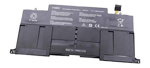 vhbw Li-Polymer Batterie 6800mAh (7.4V) pour Ordinateur Notebook ASUS ZenBook UX31, UX31A, UX31A-R4004H, UX31E, UX31E-DH72, UX31KI3517A comme C22-UX31