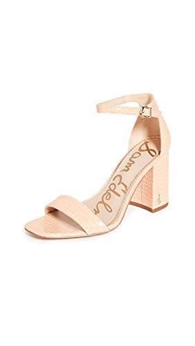 Sam Edelman Women's Daniella Sandals, Peach Croc, Pink, 6 Medium US