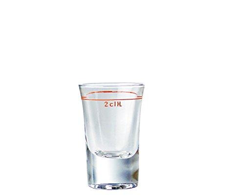 TableRoc 700471 Junior Schnapsglas, Shotglas, Stamper, 30 ml, mit Rotring bei 2cl, Glas, transparent, 12 Stück