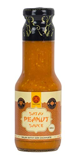 TIGER KHAN Salsa Satay de Cacahuetes para Cocina Asiática 300ml