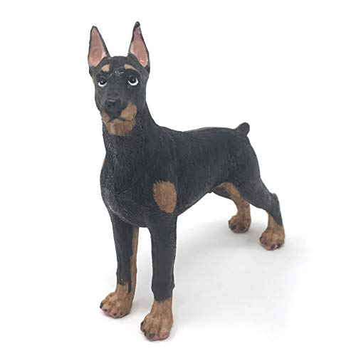 Farship Lifestyle Dalmatian Dobermann Resin Dog Figurines Ornaments, Deluxe Canine Decorations Gifts, Home & Garden (Standing Dobermann Dog)