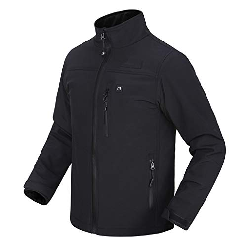 Check Out This Men's Long Sleeve Smart USB Electric Heating Warm Zip Jacket Coat SFE Winter Slim Fit...