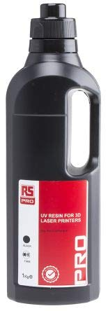 RS PRO Black 3D Printer Resin, 1kg
