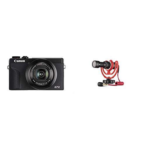 Canon PowerShot G7 X Mark III Digitalkamera 201 MP 42 Fach optischer Zoom 75cm 3 Zoll LCD Touchscreen schwarz Rode VideoMicro kompakt On Camera Microphone sortierte Farben