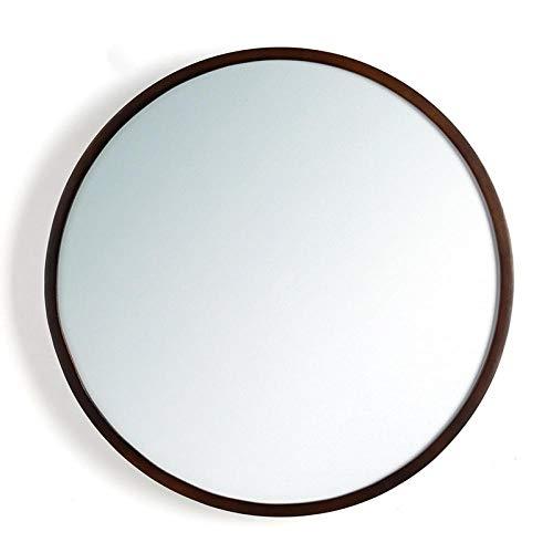 Little SweetKosmetikspiegel Kosmetikspiegel WC Badezimmerspiegel Wandspiegel Holzrahmen-Nussbaum_35cm