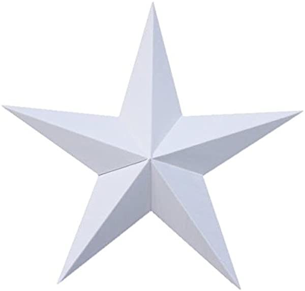 40 Inch Solid White Barn Star Made With Galvanized Metal To Prevent Rusting Amish Hand Made Your Source For Heavy Duty Metal Tin Barn Stars And Primitive Style Stars For Your Country Crafts And Home And Garden Decor American Handcrafted Made In The Usa