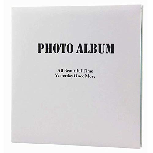 Yxxc Álbum de Fotos con páginas Adhesivas, álbum de Negocios Minimalista, Cubierta de Poliuretano, página Interior Rosa/Azul, 20 páginas (40 Lados), Bricolaje, Regalos creativos, Foto