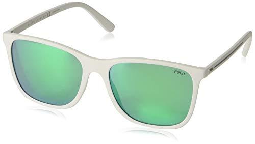 Polo 0PH4143 Gafas de sol, Rectangulares, 57, Rubber White