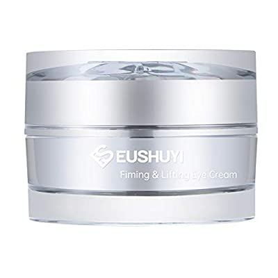 Eye Cream Firming& Lifting Eushuyi under and around eyes treatment for anti-aging, wrinkles, crow 'feet, fine lines, dark circles, bags and puffiness under eyes, 0.5ounce / 15g for every age women by Eushuyi