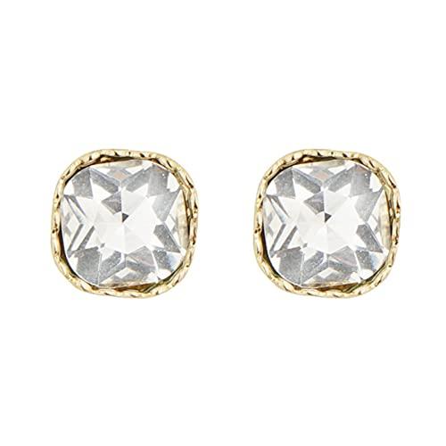 QXPDD Pendientes cuadrados de cristal geométricos, vintage, elegantes, simples y cuadrados, para mujeres y niñas