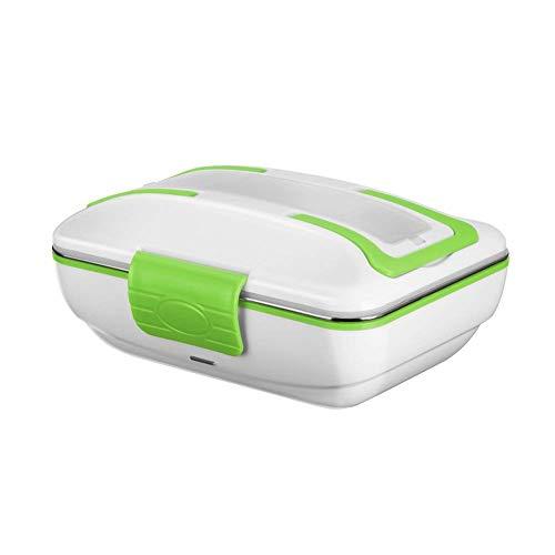 GHB - Tartera eléctrica calienta-comida portátil, 0,85 litros, 40 W, color blanco / verde
