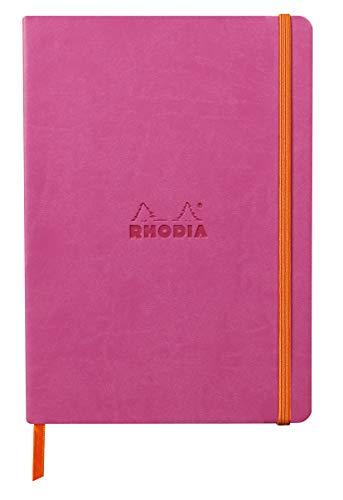 Rhodia 117445C - Cuaderno flexible A5 (14,8 x 21 cm, 160 páginas, papel Clairefontaine marfil, 90 g/m2, cierre elástico, cobertura de piel sintética, rodiarama