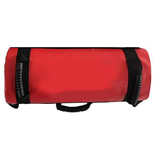 Ajustable 5-30kg de peso Sandbag entrenamiento bolsa de alimentación con asas para el levantamiento de pesas, correr, ejercicio, Levantamiento de potencia y Entrenamiento Funcional - Hueco,Rojo,30KG