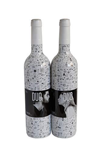 Vino blanco afrutado. Vino para regalar 2 botellas de vino para regalo x 750 ml. Estuche vino regalo
